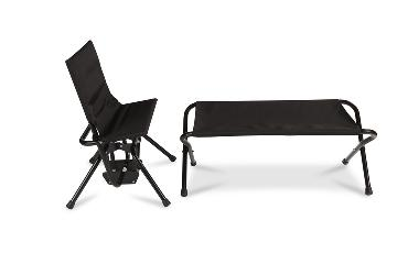 A black IntimateRider glider chair and RiderMate disability positioning aid make up the Romance Set.